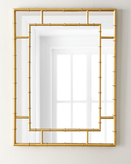 Golden Bamboo Mirror