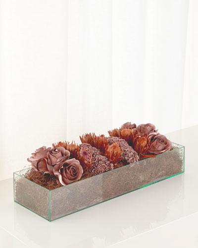 Rose Pave Faux-Floral Arrangement