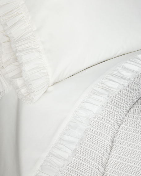 Laundered Ruffle Queen Sheet Set