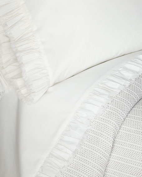 Laundered Ruffle King Sheet Set