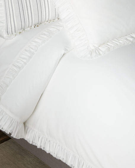 Pine Cone Hill Laundered Ruffle King Duvet Cover,