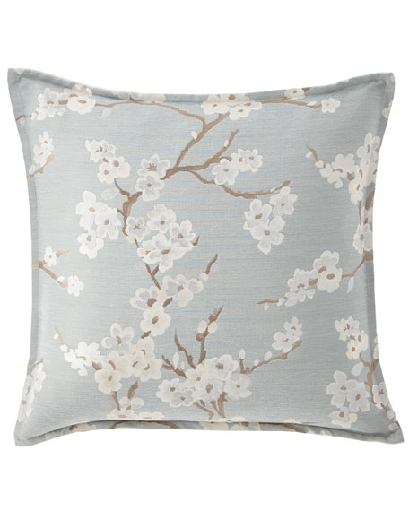 "Lyssa Flower Pillow, 22""Sq."