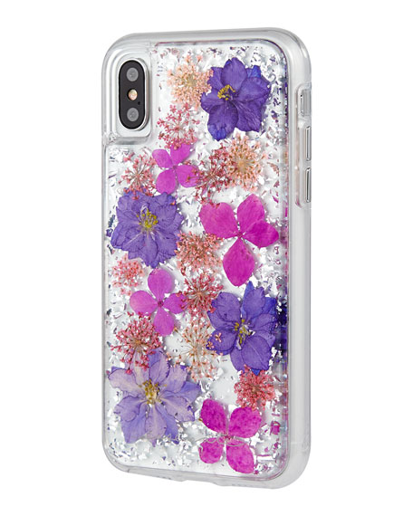 Petals iPhone® X Case, Purple