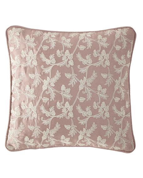 "Victoria Orchid Decorative Pillow, 14""Sq."