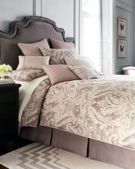 "Victoria Orchid Decorative Pillow, 18""Sq."
