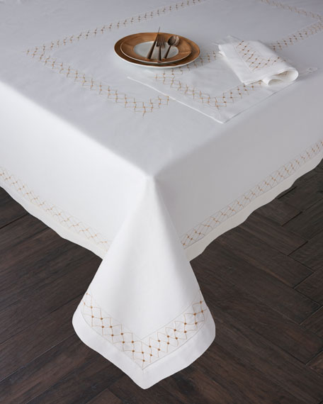 "Madeira Dots Tablecloth, 66"" x 120"""