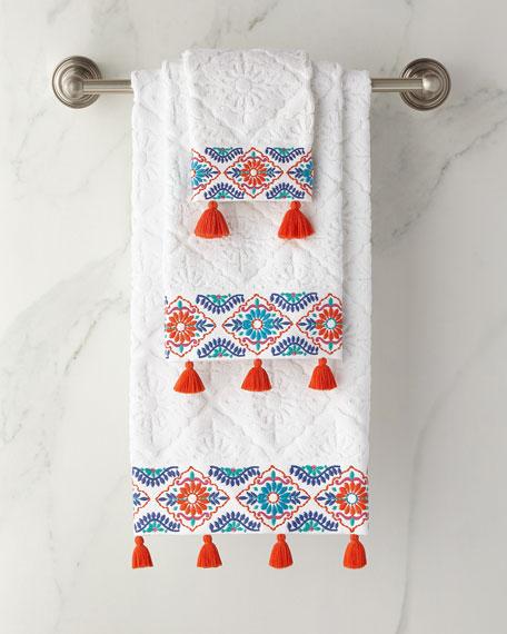 John Robshaw Aloka Coral Hand Towel