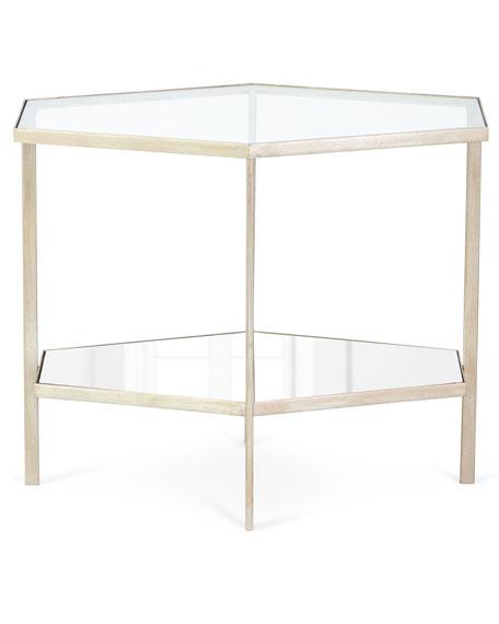 "Valeria Hexagon Side Table, 21""T"