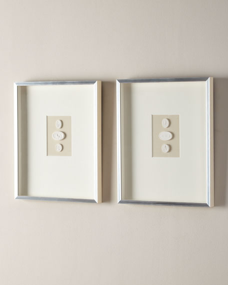 Large Triple Framed Intaglios, Set of 2