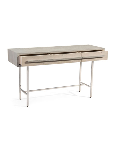 Largo Stainless & Oak Console Table