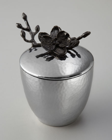 """Black Orchid"" Mini Pot with Spoon"