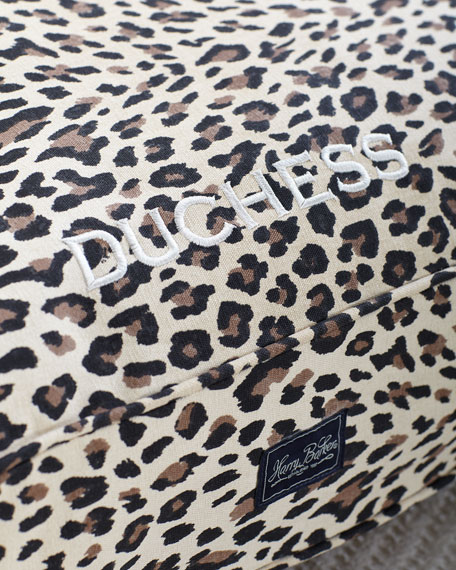 Medium Leopard Cotton Canvas Dog Bed