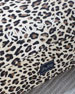 Large Leopard Cotton Canvas  Dog Bed