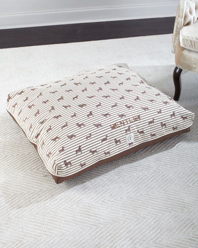 Medium Ticking Envelope Dog Bed