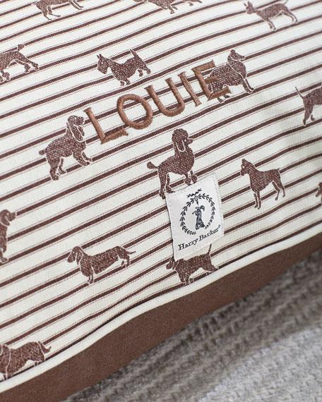 Large Ticking Envelope Dog Bed