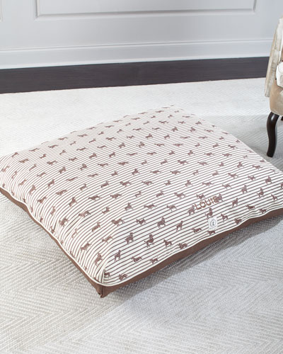 Large Ticking Envelope Dog Bed