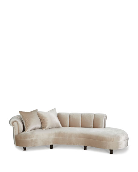 Faye Channel Tufted Sofa
