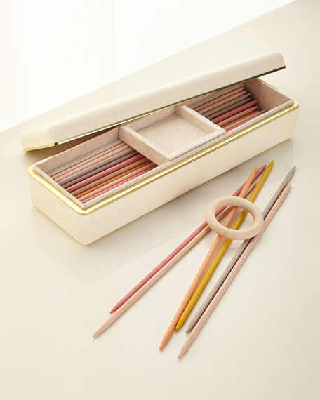 AERIN Small Shagreen Pick Up Sticks Game