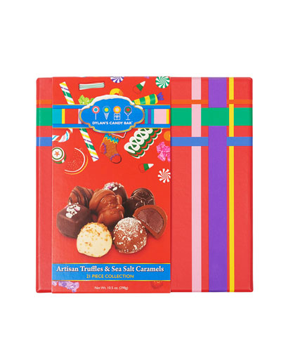 Holiday Choc-A-Lot Box of Assorted Artisan Truffles and Caramels