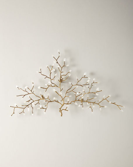 John-Richard Collection Quartz Crystal Branch Wall Sculpture