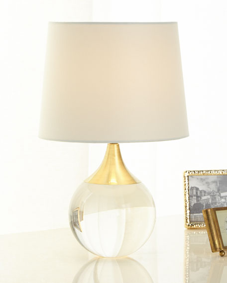 Fluted Crystal Ball Lamp