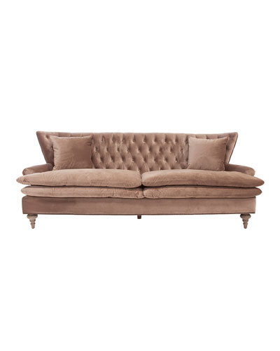 chevy velvet tufted sofa