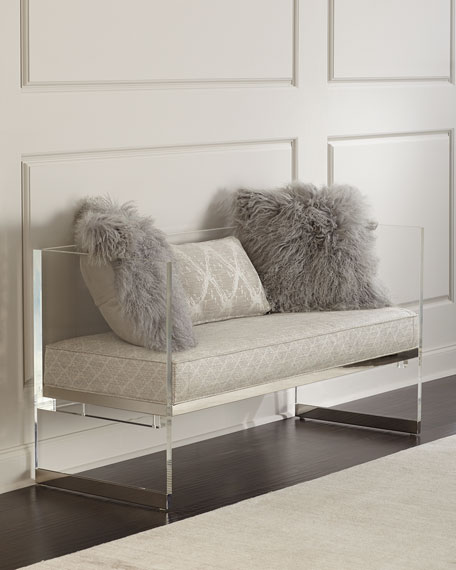 Bernhardt Merrilee Acrylic Bench