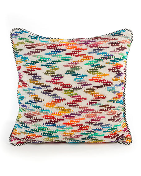 MacKenzie-Childs Zigzag Square Pillow