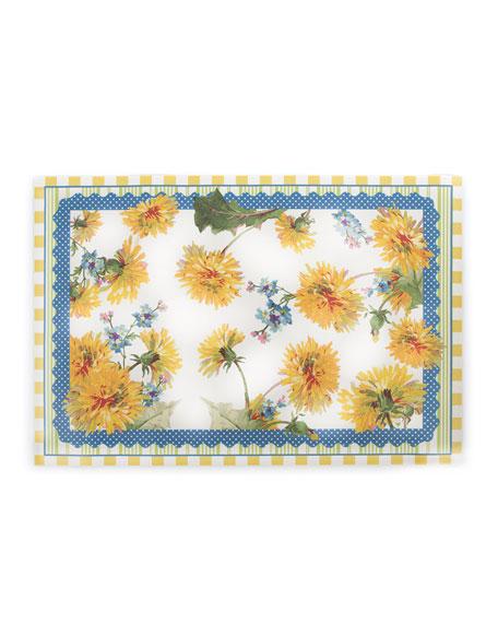 MacKenzie-Childs Dandelion Floor Mat, 2' x 3'