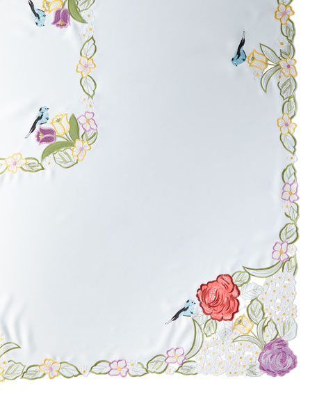 "Springtime 72"" x 90""  Tablecloth & 8 Napkins"