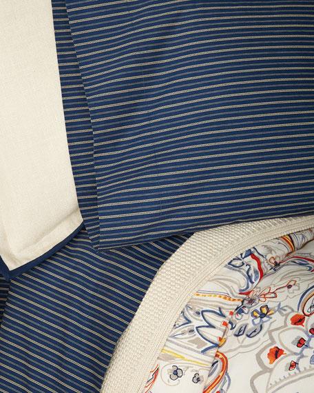 Wendell Stripe King Flat Sheet