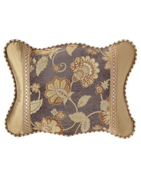 Golden Garden Scalloped King Sham