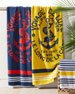 Image 1 of 2: Kacie Beach Towel with Crest