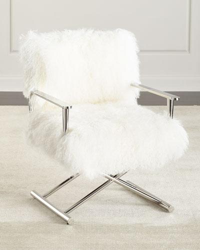 Emerson Sheepskin Director's Chair