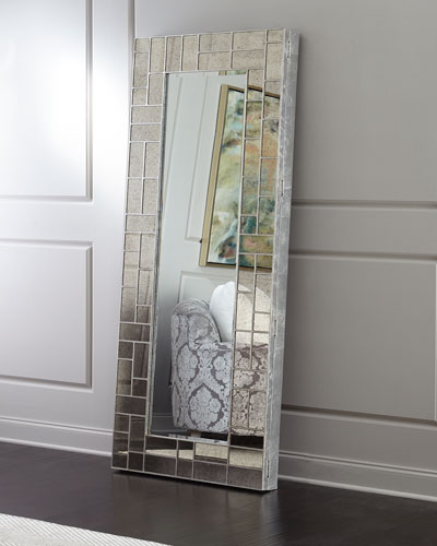 Solana Floor Mirror with Jewelry Storage