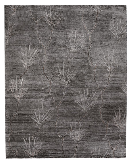 Palm Hand-Knotted Rug, 8' x 10'