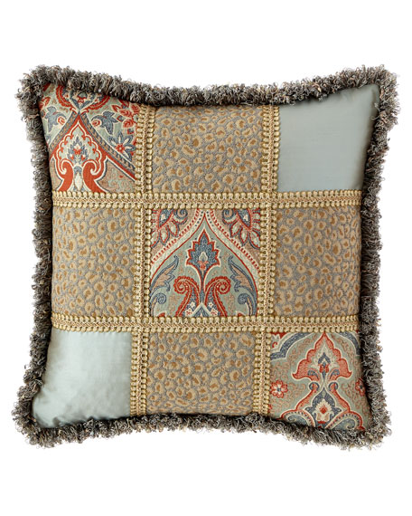 Kristi Patchwork Pillow with Fringe