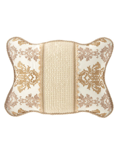 Sweet Dreams Isadora Scalloped King Sham with Beaded