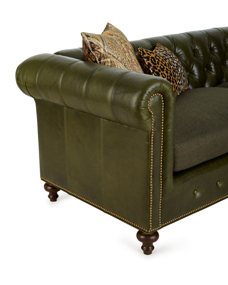 Envy Tufted Leather Sofa