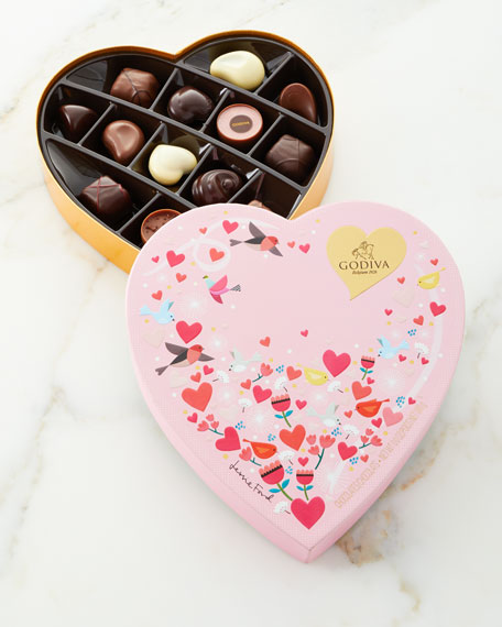 Valentine's Day Heart Gift Box, 14 Pieces
