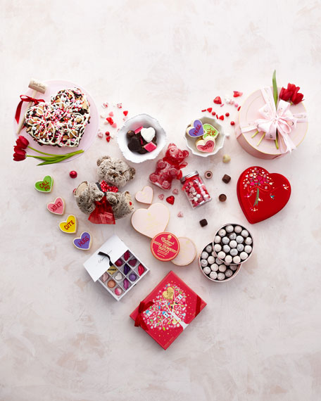 Valentine's Day Luxury Fabric Heart Gift Box, 14 Pieces