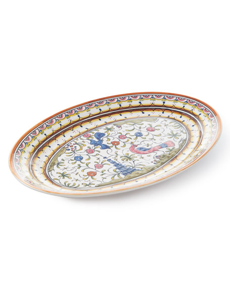 Pavoes Oval Platter and Matching Items & Matching