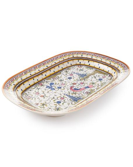 Keramos Nazari Pavoes Rectangular Platter