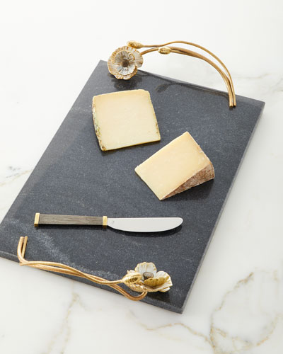 Anemone Large Cheese Board with Knife
