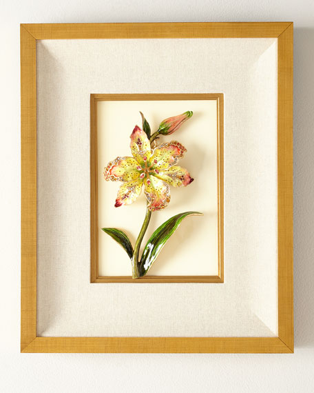 Jay Strongwater Swarovski?? Crystals Lily Wall Art