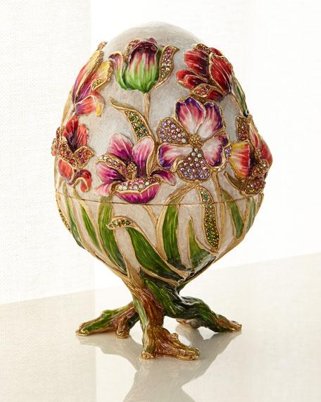 Jay Strongwater Tulip Egg Objet