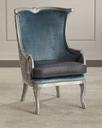 Yasmine Leather Wing Chair