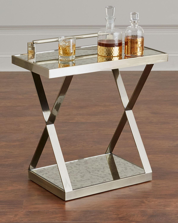 Clarendon X Frame Side Table