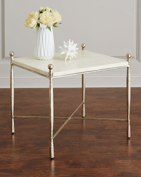 Clarion Stone-Top Side Table
