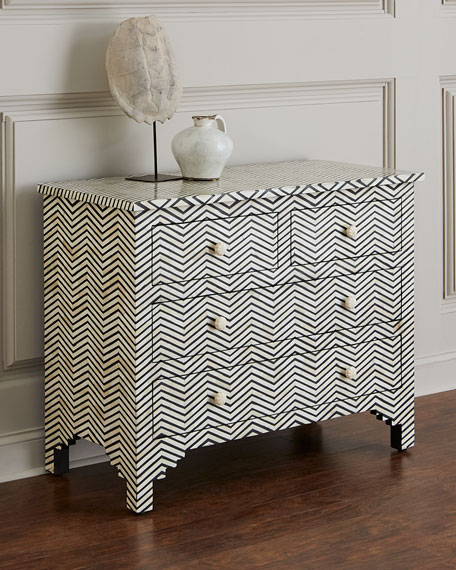 Herringbone Four-Drawer Chest